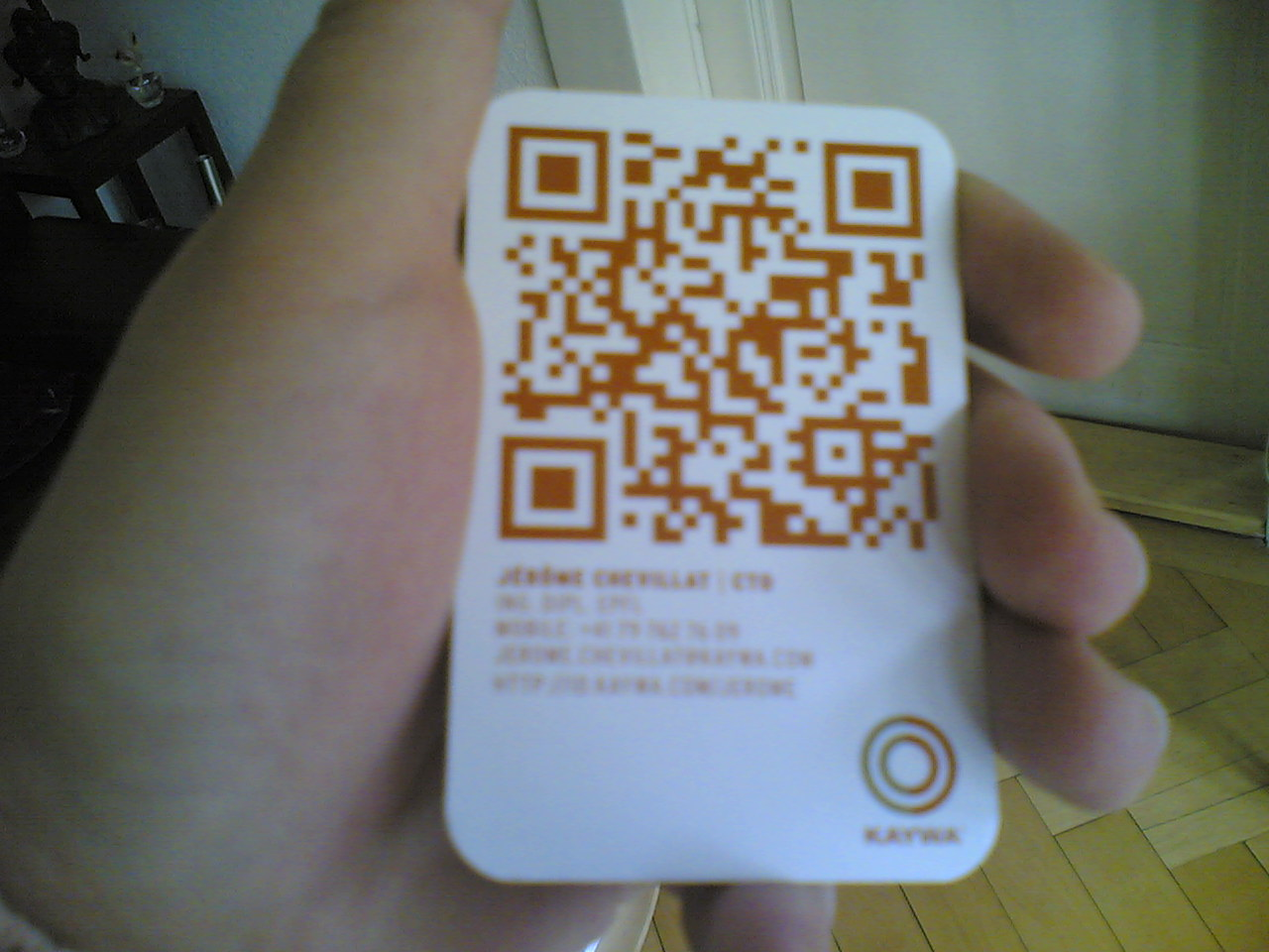Qrcode new business card with qr codes reheart Choice Image